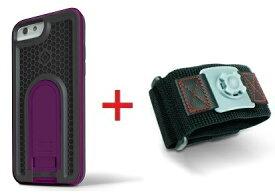 Intuitive Cube Japan X-Guard iPhone6/6s用ケース(パープル)&スポーツアームバンド(L)セット [LG-MA08-3238_LG-XC02-0188L_SET]|| ハードケース カバー ランニング アイフォン6 紫 iPhone6s おしゃれ 海外ブランド おもしろ 【newyear_d19】