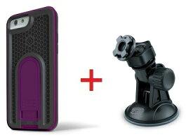 【即納】Intuitive Cube Japan X-Guard iPhone6/6s用ケース(パープル)&吸盤スタンドセット [LG-MA08-3238_LG-XC06-0188_SET]|| ハードケース カバー 車載ホルダー 吸盤式 ダッシュ アイフォン6 紫 iPhone6s おしゃれ 海外ブランド おもしろ 【newyear_d19】
