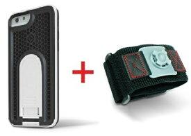 【即納】Intuitive Cube Japan X-Guard iPhone6/6s用ケース(ホワイト)&スポーツアームバンド(S)セット [LG-MA08-3118_LG-XC02-0188S_SET]|| ハードケース カバー ランニング アイフォン6 白 iPhone6s おしゃれ 海外ブランド おもしろ 【newyear_d19】
