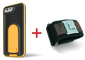 Intuitive Cube Japan X-Guard iPhone6/6s用ケース(イエロー)&スポーツアームバンド(S)セット [LG-MA08-3178_LG-XC02-0188S_SET]|| ハードケース カバー ランニング アイフォン6 黄 iPhone6s おしゃれ 海外ブランド おもしろ 【newyear_d19】