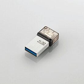 【即納】エレコム USBメモリー/OTGメモリ/USB3.1(Gen1)対応/microB端子/32GB [MF-SEU3032GSV]