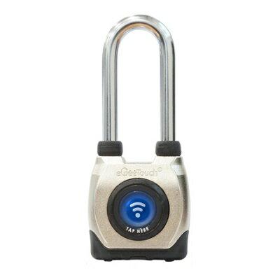 【即納】【送料無料】eGee Touch スマートロック 防水 ロングシャックル 南京錠 防犯 パッドロック NFC Bluetooth [LG-GT2100-L]
