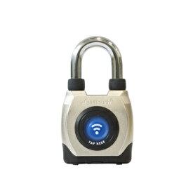 eGee Touch スマートロック 防水 ショートシャックル 南京錠 防犯 パッドロック NFC Bluetooth [LG-GT2100-S]