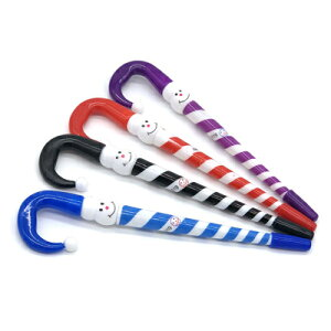 ツリーの飾り付けでも大活躍!おしゃれなストライプ柄のボールペン 4種類セット [LG-PEN-CANDYST-4SET] ペン ボールペン キャンディ 傘 スノーマン ツリー オーナメント クリスマス プレゼント交