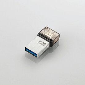 エレコム USBメモリー/OTGメモリ/USB3.1(Gen1)対応/microB端子/16GB [MF-SEU3016GSV]