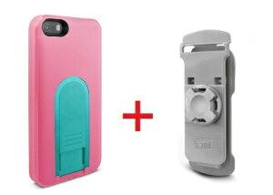 Intuitive Cube Japan X-Guard iPhone SE/5/5s用ケース(ピーチ)&ベルトクリップセット [LG-MA03-0128_LG-XC01-0258_SET]   ハードケース カバー iPhone5 iPhone5s リュック ピンク アイフォン5 おしゃれ 海外ブランド