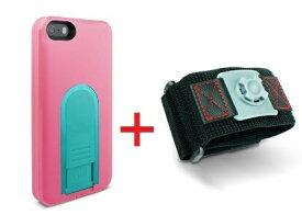 【即納】Intuitive Cube Japan X-Guard iPhone SE/5/5s用ケース(ピーチ)&スポーツアームバンド(L)セット [LG-MA03-0128_LG-XC02-0188L_SET]|| ハードケース カバー iPhone5 iPhone5s ランニング ピンク アイフォン5 おしゃれ 海外ブランド 【newyear_d19】
