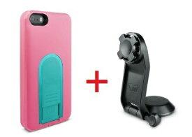 【即納】Intuitive Cube Japan X-Guard iPhone SE/5/5s用ケース(ピーチ)&三脚ホルダーセット [LG-MA03-0128_LG-XC05-0188_SET]|| ハードケース カバー iPhone5 iPhone5s カメラ スマホ 固定 旅行 ピンク アイフォン5 おしゃれ 海外ブランド 【newyear_d19】