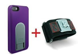 【即納】Intuitive Cube Japan X-Guard iPhone SE/5/5s用ケース(パープル)&スポーツアームバンド(S)セット [LG-MA03-0238_LG-XC02-0188S_SET]|| ハードケース カバー iPhone5 iPhone5s ランニング 紫 アイフォン5 おしゃれ 海外ブランド 【newyear_d19】