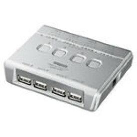 【即納】サンワサプライ USB2.0ハブ付き手動切替器(4回路) SW-US44HN [SW-US44HN]