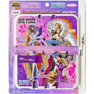 ワンピース Newニンテンドー3DS LL専用 カスタムハードカバー ナミ・ロビン・ハンコック ONE PIECE Purple 送料無料