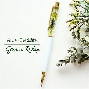 ハーバリウムペン ハーバリウムボールペン 本体 北欧 ボタニカル 2000円 シンプルモダン リラックス プチギフト ボールペン 緑 きれい おしゃれ シンプル さわやか 大人 ハーバリウム 文具 グ