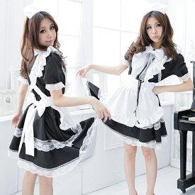 ハロウィン コスプレ コスチューム コスプレ衣装 セクシーコスチューム 制服 メイド服 メイド セクシー コスプレ 大きいサイズ 8サイズ パフスリーブ プレゼント