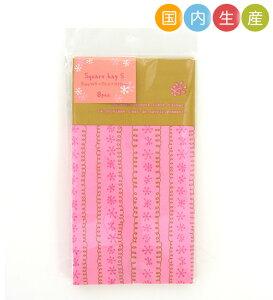 【ポイント5倍 SS期間限定!】T21 スクエアバッグS フラワー 8枚 メール便メール便対応個数:12個までラッピング 用品 袋 プレゼント 包装 お菓子 手作り 製菓用品