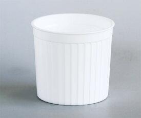 PP60-110 SHデザートカップ110cc《耐熱》リブ白・100枚プリン型・プラスチック・カップ・プリンカップ・ゼリー・容器・お菓子・手作り・製菓用品