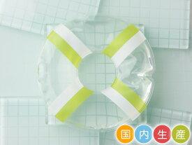 【メール便対応】保冷剤 浮輪型 グリーン×ホワイト WEB29メール便対応個数:6個まで保冷 冷却 長時間 かわいい ランチグッズ お弁当グッズ