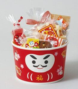 お正月 XS851 ロールフリーカップ(招福ダルマ)25枚 お正月 お年賀 惣菜容器・容器・チキン・フライドチキン・ポップコーン・フードコンテナ・ギフト・プレゼント・お菓子・製菓用品・
