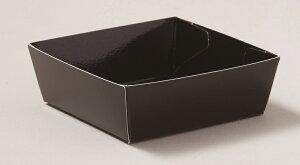 PC105 プレミアムカラーココット(ブラック)50枚 内面にも印刷をしてフィルムをラミネートした直置きOKな高級トレー内面印刷トレー・食品直置き・ココット・洋菓子・デザート