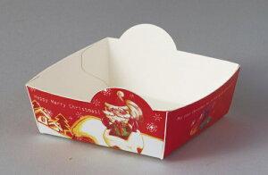 クリスマス XA510 ペーパーココット 100枚 ジェントルサンタ ラッピング・用品・プレゼント・ギフト・包装・トレー・お菓子・手作り・製菓用品