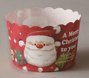 マフィンカップ クリスマス XM822 ペットマフィン(スイートサンタ)100枚ベーキングカップ・紙製・焼型・ケーキカップ・ギフト・プレゼント・お菓子・手作り・クリスマス・製菓用品