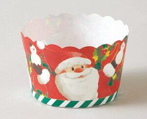 マフィンカップ クリスマス2019 XM664 ケーキカップ(サンタウェア)25枚 マフィン型・ベーキングカップ・紙製・焼型・ケーキカップ・ギフト・プレゼント・お菓子・手作り・製菓用品