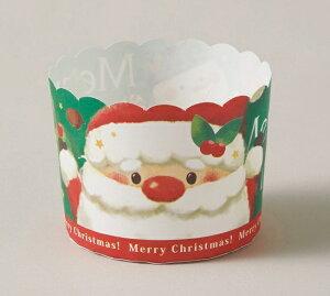 クリスマス2019 XM804 ペットマフィン(ヒイラギサンタ)100枚・マフィンカップ・マフィン型・ベーキングカップ・紙製・焼型・ケーキカップ・ギフト・プレゼント・お菓子・手作り・製菓用