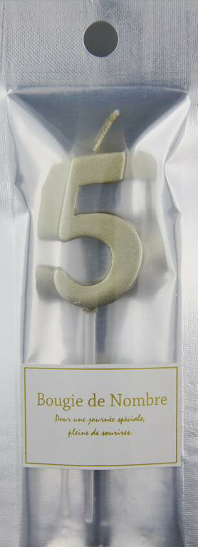 MTGL-05 MTナンバーキャンドル 5番  ゴールド ハロウィン HALLOWEEN お誕生日 記念日 お祝い ローソク バースデー インスタ映え