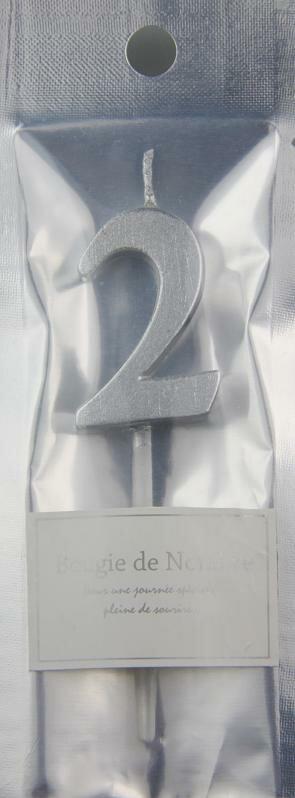 MTSL-02 MTナンバーキャンドル 2番  シルバー ハロウィン HALLOWEEN お誕生日 記念日 お祝い ローソク バースデー インスタ映え
