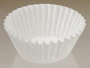 グラシンカップ 5号 丸型 (白) 120枚入 シリコンなし/12穴用 グラシン紙 マフィン , マフィン型 , マフィンカップ , 紙型 , 紙 5F-120