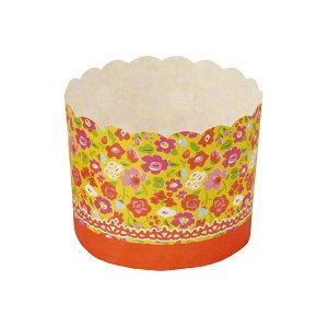 ペット マフィンカップ M(オレンジフラワー) 50枚入 マフィン型 , マフィンカップ , カップケーキ , ベーキングカップ , 日本製 MS8805-50