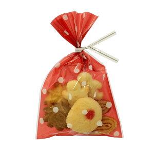 ラッピング袋 SS (ドットピンク) 100枚入 業務用 小分け袋 焼菓子袋 ラッピング小分け NK07-100