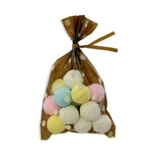 ラッピング袋 SS (ドットブラウン) 100枚入 小分け袋 , 焼菓子袋 , ラッピング小分け NK08-100