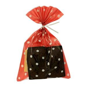 ラッピング袋 M (ドットピンク) 100枚入 業務用 小分け袋 焼菓子袋 ラッピング小分け NK09-100