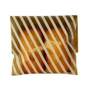 ラッピング袋 SS (ストライプブラウン) 100枚入 小分け袋 , 焼菓子袋 , ラッピング小分け NK12-100