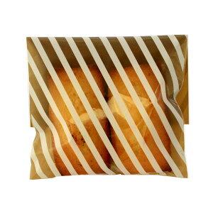 ラッピング袋 M (ストライプブラウン) 100枚入 小分け袋 , 焼菓子袋 , ラッピング小分け NK14-100