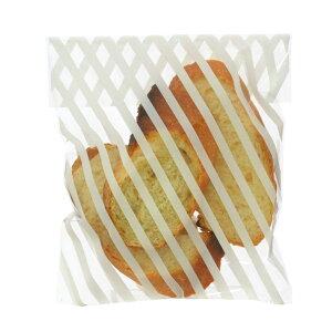 ラッピング袋 M (ストライプクリア) 100枚入 小分け袋 , 焼菓子袋 , ラッピング小分け NK16-100