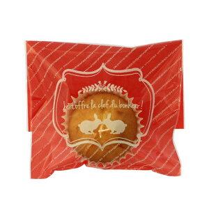 ラッピング袋 M (ロゴラビットピンク) 100枚入 小分け袋 , 焼菓子袋 , ラッピング小分け NK19-100