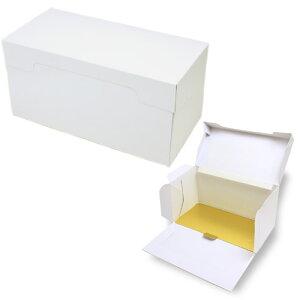 ロールケーキ ボックス (白) 5枚入 金台紙付き 菓子 箱 , ケーキ , ラッピング , テイクアウト ケーキ PA21D-5