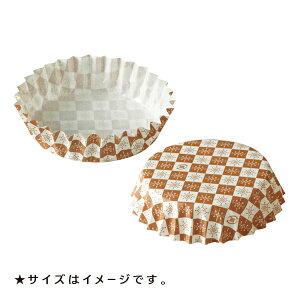 ペットカップ 丸型 6.0cm×高さ2.0cm(茶ブロック) 300枚入 ペットカップ 紙 , 純白ペット , マドレーヌカップ PTC06020B-300
