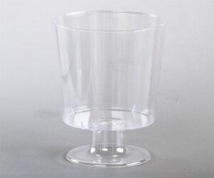デザートカップ 使い捨て M(無地) 20枚入 脚付き ゼリーカップ ゼリー型 ゼリー 容器 プリン プリンカップ 瓶 瓶ゼリー 手作り お菓子作り ムース スイーツ プラスチック AS102-20