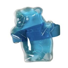 保冷剤 ひえくまランチバンド付き(透明×ブルー) 1個入 WEB24-1