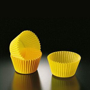 グラシンカップ 4.8cm×高さ3.8cm(黄) 500枚入 剥離性あり グラシン紙 マフィン , マフィン型 , マフィンカップ , 紙型 , 紙 C920-500