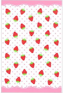 ラッピング袋 M(いちご) 30枚入 小分け袋 , 焼菓子袋 , ラッピング小分け Co54-30