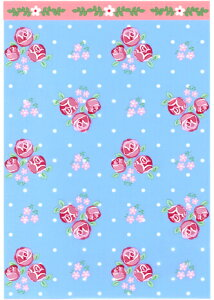 ラッピング袋 S(ロマンスフラワーブルー) 100枚入 小分け袋 , 焼菓子袋 , ラッピング小分け Co86-100