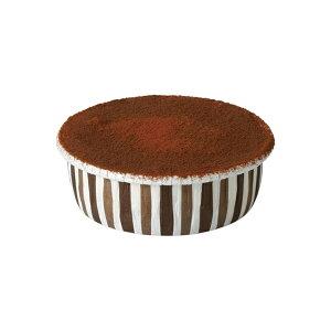 カールカップ S3(ブラウンストライプ) 100枚入 チーズケーキ 型 レアチーズケーキ , ガトーショコラ CR25-100