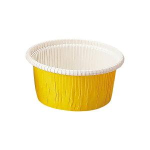 カールカップ M1(黄) 100枚入 業務用 マフィンカップ マフィン型 カップケーキ ケーキカップ ベーキングカップ レアチーズケーキ 日本製 紙型 使い捨て 紙 紙製 焼型 プレゼント お菓子作り 手