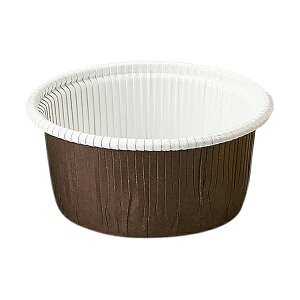 カールカップ M2(茶) 50枚入 マフィンカップ マフィン型 カップケーキ ケーキカップ ベーキングカップ レアチーズケーキ 日本製 紙型 使い捨て 紙 紙製 焼型 プレゼント お菓子作り 手作り 製