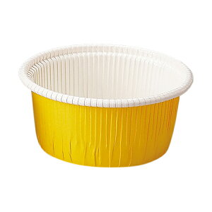 カールカップ M2(黄) 100枚入 業務用 マフィンカップ マフィン型 カップケーキ ケーキカップ ベーキングカップ レアチーズケーキ 日本製 紙型 使い捨て 紙 紙製 焼型 プレゼント お菓子作り 手