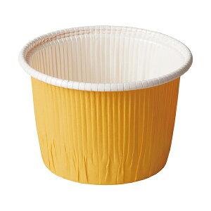 カールカップ LL(黄) 50枚入 カップ シフォンケーキ , シフォンケーキ 型 , シフォンケーキ 紙 CR73-50