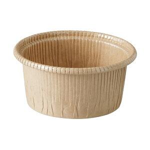 カールカップ M(クラフト) 50枚入 マフィン型 , マフィンカップ , カップケーキ , ベーキングカップ , レアチーズケーキ , 紙型 , 紙 CR8742-50